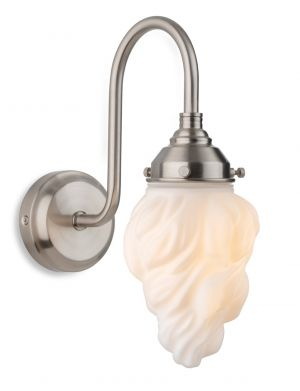 Firstlight 2899BS Flame Wall Light (Brushed Steel)