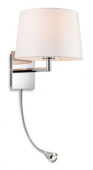 Firstlight 4936CH Grand Wall Light + Switched LED Task Light (Chrome)