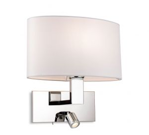 Firstlight 4938CH Webster 2 Lamp Switched Wall Light (Chrome)