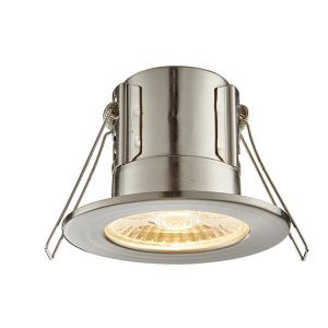 Saxby ShieldECO Fire Rated Downlight (Satin Nickel - Warm White)