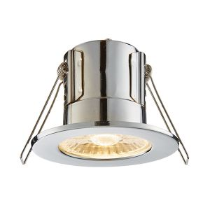 Saxby ShieldECO Fire Rated Downlight (Chrome - Warm White)