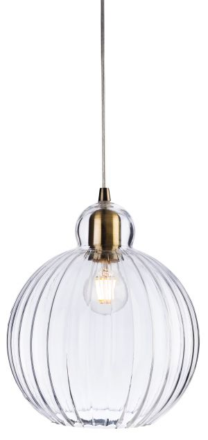 Firstlight 7649AB Victory Glass Pendant Light with Antique Brass