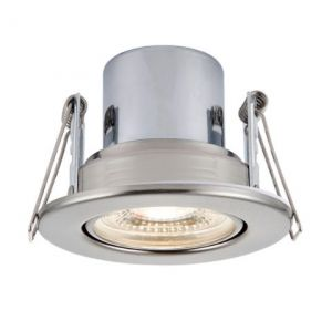 Saxby ShieldECO 800 Tilt Fire Rated Downlight (Satin Nickel - Cool White)