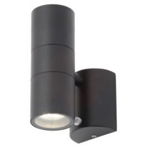 Forum ZINC Outdoor ~ LETO Up/Down Wall Light with Photocell (Black)