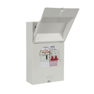 FuseBox SF0100 100A DP Metal Fused Switch  With 63A, 80A, & 100A Fuses
